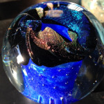Galaxy Paperweight Memorial-Glass (choice of 1 color) $199