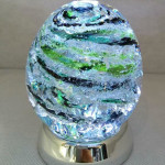 Infinity Spiral Oval Memorial-Glass ( 1 color of choice) $225